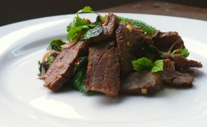 Warm Marinated Flank Steak Salad