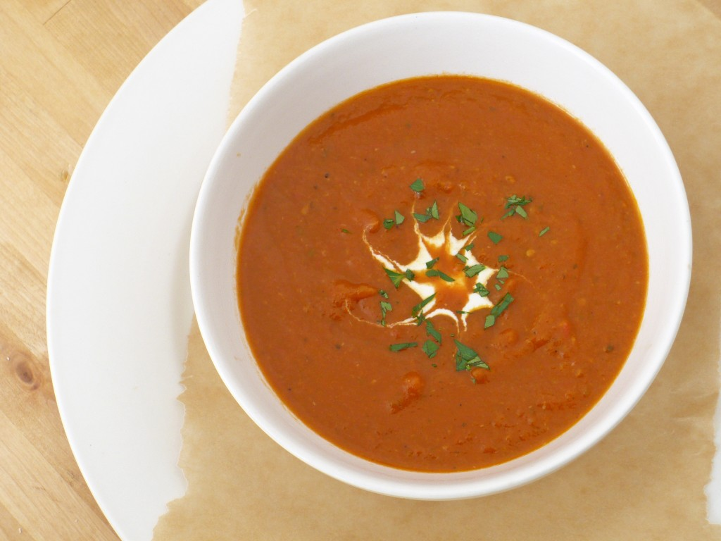 Delicious, homemade tomato soup
