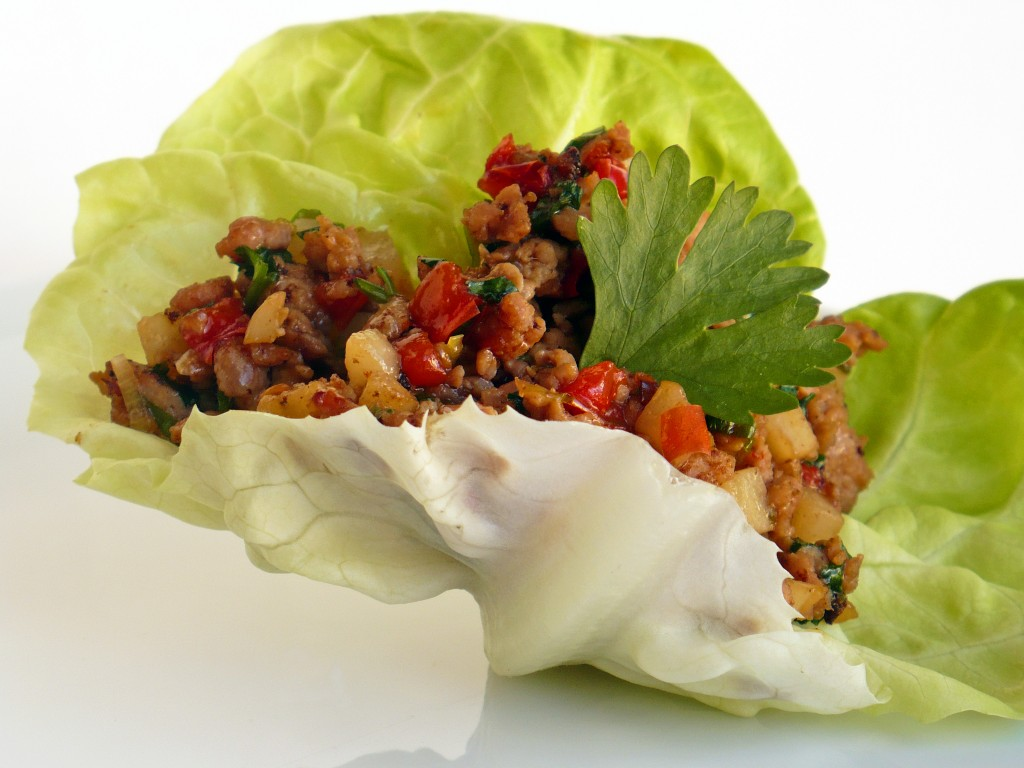 Ginger Pork Lettuce Cups