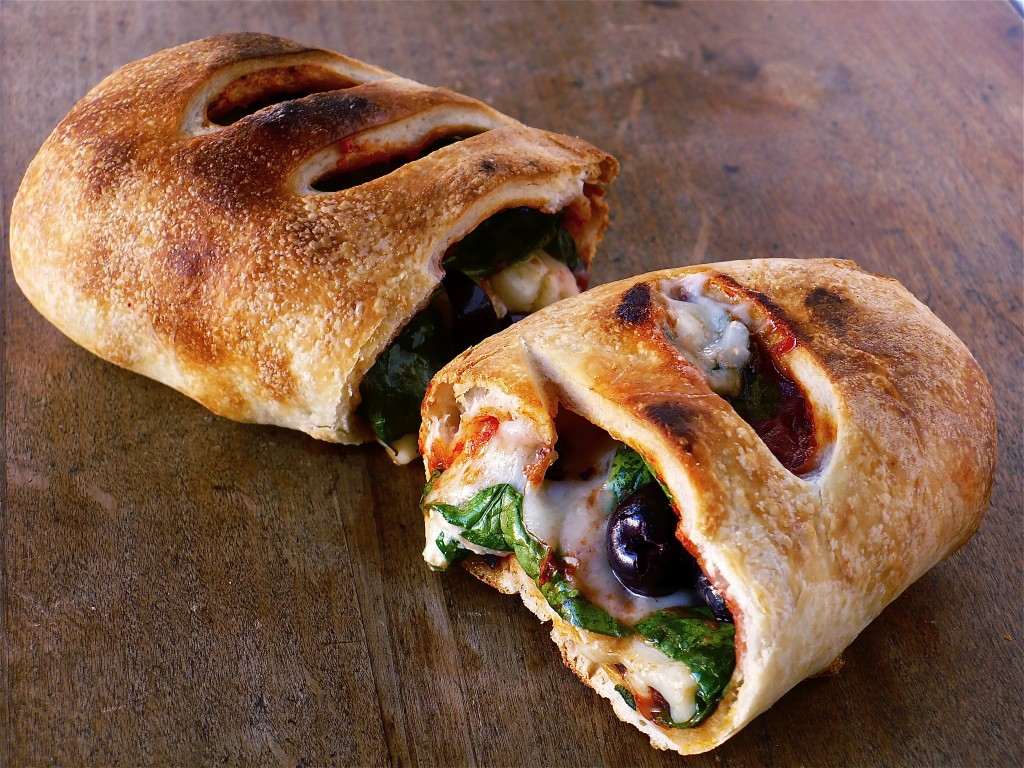 SPINACH, FETA & KALAMATA OLIVE STROMBOLI | Food.People.Want